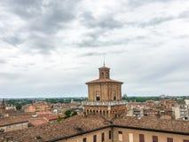 W Ferrara Estense kasztel, Włochy obraz royalty free