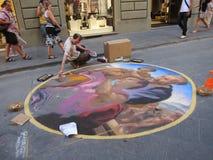 W Florencja uliczna Sztuka Fotografia Royalty Free