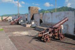 W forcie antyczny forteca Kingstown, święty Zdjęcia Royalty Free
