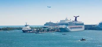 W Forcie portowi Błota Lauderdale, Floryda Zdjęcia Royalty Free