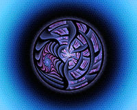 w fractal abstrakcyjne Fotografia Royalty Free