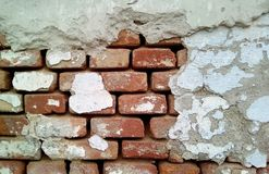 W górę części ściana z cegieł zdjęcia royalty free