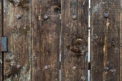 w górę drewna zamknięty drzwi Zdjęcie Royalty Free