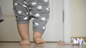 W górę dziecko nóg bierze ich spada puszek i pierwszych kroki zbiory wideo