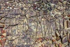 W górę fotografii osadowej skały tekstura Ja obrazy stock