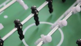W górę gry stołowy futbol Dynamiczny ruch gracze i kamery podczas gry zbiory