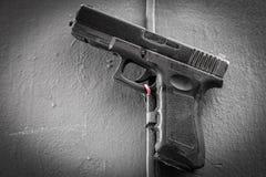 W górę klingeryt zabawki pistoletu zdjęcie stock