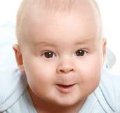 w górę potomstw chłopiec portret zamknięty mały Obrazy Royalty Free