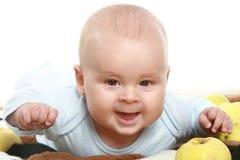 w górę potomstw chłopiec portret zamknięty mały Fotografia Royalty Free