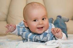 w górę potomstw chłopiec portret zamknięty mały Zdjęcia Royalty Free