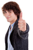 w górę potomstw uśmiechnięty mężczyzna kciuk Obraz Stock