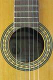 W górę soundhole w pudełku Hiszpańska gitara zdjęcia royalty free