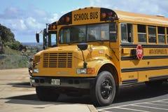 w górę widok zakończenie autobusowa szkoła Obrazy Royalty Free