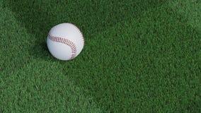 W górę widoku baseball piłka stawia dalej ciącego gazon ilustracji