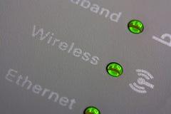 w górę wifi wskaźnika zamknięty router Fotografia Royalty Free