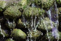 - w górę wodospadu Naturalny świat textured tło wizerunek Zdjęcia Stock