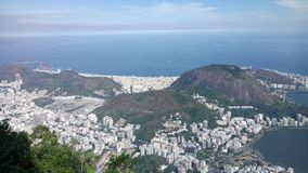 W górę Rio De Janeiro Brasil cristo Obrazy Royalty Free