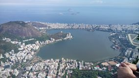 W górę Rio De Janeiro, Copacabana, cristo Zdjęcia Stock