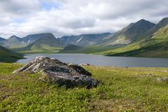 W górach Biegunowy Ural Yamal, Rosja zdjęcia stock