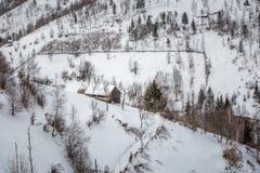 W górach wioska zdjęcia royalty free