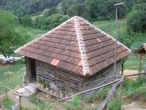 W górze stary dom Obraz Stock