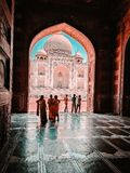 W g?r? Taj Mahal tapety zdjęcia royalty free