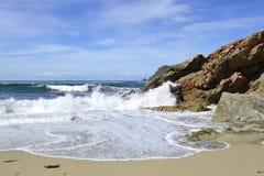 W Galicia piękna plaża Hiszpania Obraz Stock