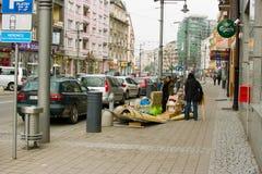 W Gdynia czyścić niepotrzebne rzeczy. Zdjęcie Stock