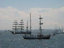 W Gdynia dwa Wysokiego statku Zdjęcia Royalty Free
