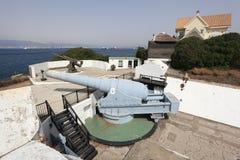 W Gibraltar duży pistolet Zdjęcie Stock