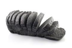 Węgiel drzewny czarny chleb Obraz Royalty Free