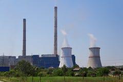 Węgiel zasilana elektrownia Fotografia Royalty Free