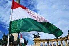 Węgier flaga Obraz Royalty Free