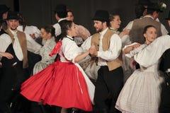 Węgierscy ludowi tancerze Zdjęcia Royalty Free