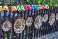 Węgierski handmade ceramics w wiosce Tihany Zdjęcie Royalty Free