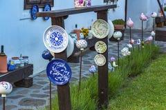 Węgierski handmade ceramics w wiosce Tihany Zdjęcie Stock