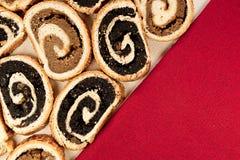 Węgierski tradycyjny tortowy beigli 3 lub bejgli Fotografia Stock