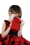 W Giftbox dziecka Zerkanie zdjęcie royalty free