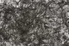 Węgla drzewnego rysunek na papierowym tekstury tle Obraz Stock