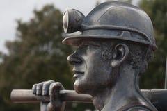 Węglowego górnika statua Fotografia Stock