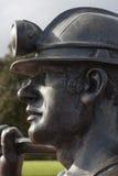 Węglowego górnika statua Zdjęcia Stock