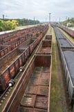 Węglowi furgony na kolei obraz royalty free
