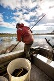 Węgorzowy rybak Zdjęcie Stock