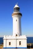 w górę widok biel zamknięta latarnia morska Fotografia Royalty Free
