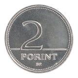 2 węgra forinta moneta Zdjęcie Royalty Free