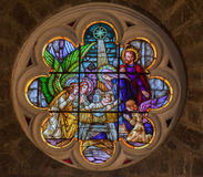 W Gramado Kościelny Peter świątobliwy Witraż Obraz Stock