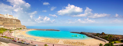 W Gran Amadores plaża Canaria zdjęcia royalty free
