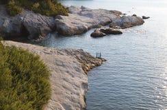 W Grecja Aigina wyspa Fotografia Stock