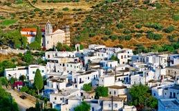 W Greckiej wiosce biały domy Fotografia Royalty Free