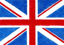 W grunge stylu Brytyjski flaga Zdjęcia Stock